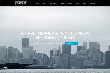 5 New Creative One Page WordPress Themes | Free & Premium WordPress Themes | Scoop.it