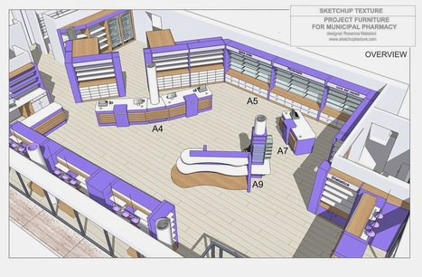 SKETCHUP TEXTURE: HOW TO DESIGN A MODERN PHARMACY & 3D SKETCHUP MODEL : | Arquitectura Life Style | Scoop.it