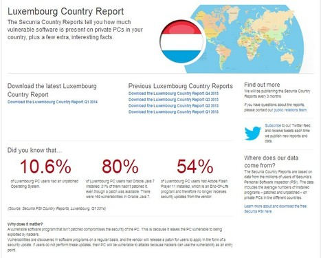 Cyber Security | Luxembourg Country Reports - Secunia | Luxembourg (Europe) | Scoop.it