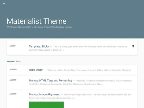 Best Free And Premium Material Design Bootstrap WordPress Themes Collection | Bootstrap Themes | Scoop.it