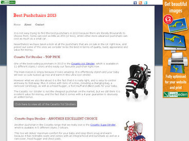 Best Pushchairs 2013 | Useful Product Reviews | Scoop.it