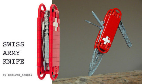 People Are So Clever: A LEGO Swiss Army Knife Model | Geekologie | News coutellerie internationale | Scoop.it