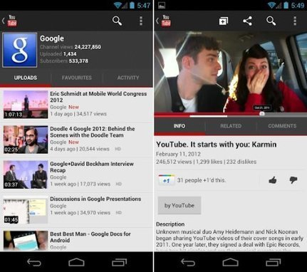 YouTube Android app update brings HD video streaming to 'capable' 2.2+ devices - Engadget | Idiomas 2.0 | Scoop.it