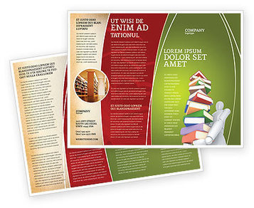 Books Stack In Hands Brochure Template | Brochure Templates | Scoop.it