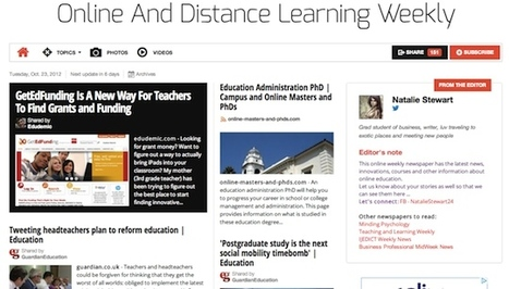 Oct 23 - Online And Distance Learning Weekly | Studying Teaching and Learning | Scoop.it