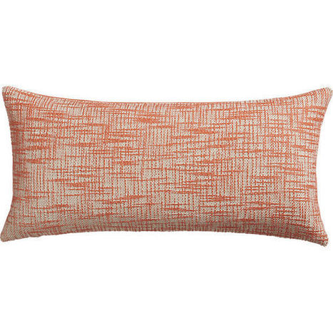 "format orange 23""x11"" pillow with down-alternative insert 