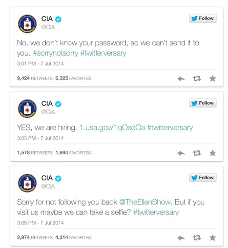 The CIA's Social Media Manager Deserves a Raise | MarketingHits | Scoop.it