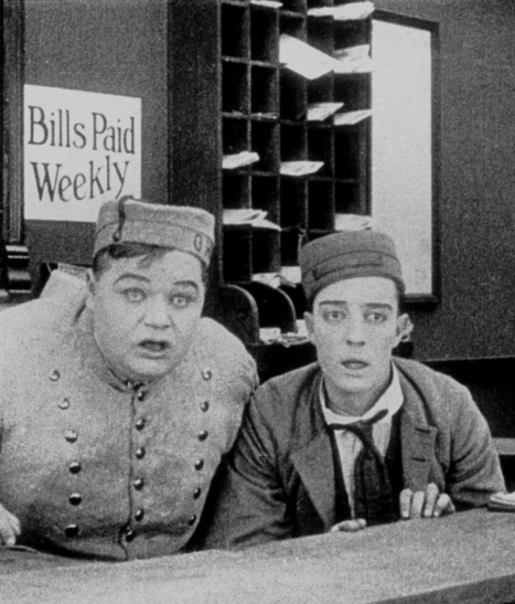 """Arbuckle and Company in """"The Bell Boy"""" 