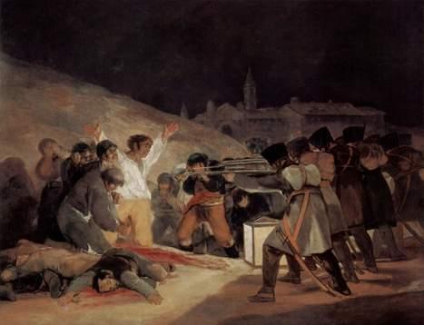 #106 ❘ El Tres de Mayo, (en français) La fusillade du Principe Pio, le 3mai 1808 à Madri  ❘ 1814 ❘ Francisco Goya (1746-1828) | # HISTOIRE DES ARTS - UN JOUR, UNE OEUVRE - 2013 | Scoop.it