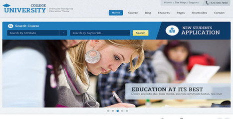 Top Education wordpress theme for education website and blog   wordpress theme Collection   Scoop.it