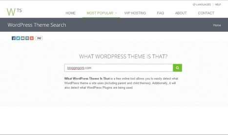 Find Out What WordPress Theme a Site Is Using | Blogging Orb | Scoop.it