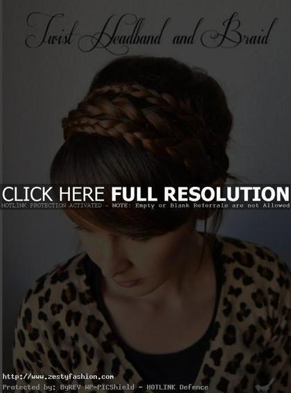 Step-by-step Twist Headband and Braid hairstyle for Long Hair | hairdressing | Scoop.it