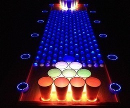 Interactive LED Beer Pong Table | Art | Scoop.it