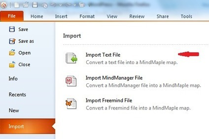 Tutoriel Mindmaple : importer et exporter du texte | Revolution in Education | Scoop.it