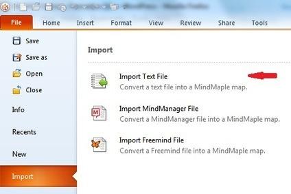 Tutoriel Mindmaple : importer et exporter du texte | E-pedagogie, apprentissages en numérique | Scoop.it
