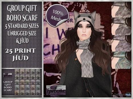 Boho Scarf 25 Prints November 2015 Group Gift by i'piteme | Teleport Hub - Second Life Freebies | Second Life Freebies | Scoop.it