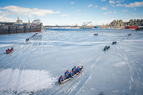 The 2014 Défi canot à glace Montreal - Field of Play ... | Le canot à glace - Ice canoeing | Scoop.it