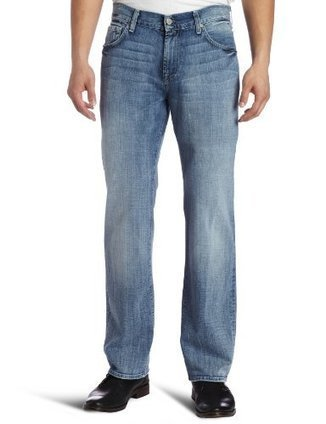 """&&&  ATA046994A 7 For All Mankind Mens Austyn Relaxed Straight Leg """"A"""" Pocket Jean in Los Angeles, Light Indigo, 29 7 For All Mankind Light Indigo 