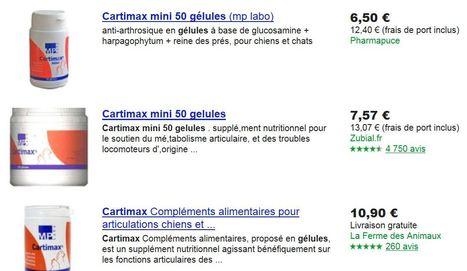 Pharmapuce propose le meilleur prix pour le cartimax mini 50 gélules sur google shopping | CaniCatNews-actualité | Scoop.it