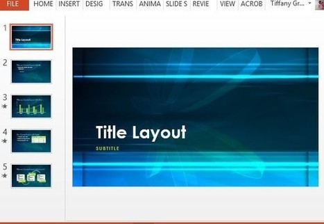 Free Blue Atom PowerPoint Template | PowerPoint presentations and PPT templates | Scoop.it