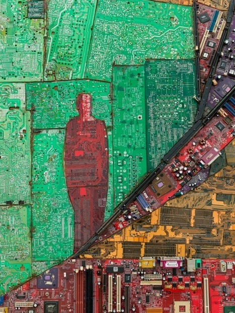 Ethiopian Artist Elias Sime Recycles Discarded Circuit Boards into Computer-Part Collages | Art Installations, Sculpture, Contemporary Art | Scoop.it