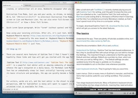 Sublime Text 2 and Markdown: Tips, Tricks, and Links - MacStories   Front End Development   Scoop.it