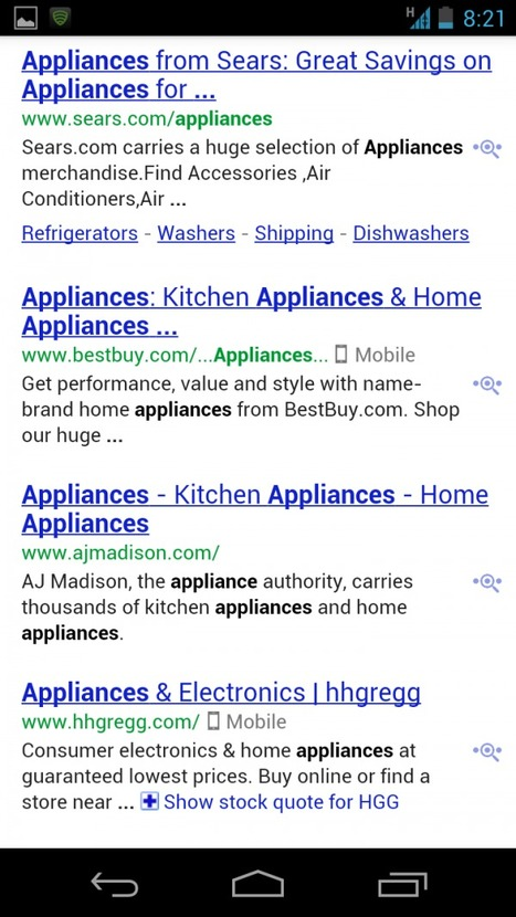 "What You Need To Know About Smartphone Icons In Google Mobile Search | ""Biz Mobile Marketing"" 