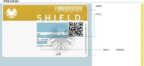 Agents of S.H.I.E.L.D | Get Your ID Badge | QR Code Art | Scoop.it