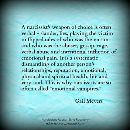 Narcissistic Abuse: The Narcissist's Smear Campaign | Narcissistic Mothers | Scoop.it