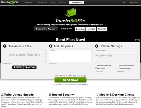 Different ways to share large files. | TechVally | Scoop.it
