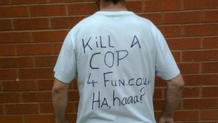 Man loses appeal to cut sentence after wearing T-shirt which mocked police deaths | Granada - ITV News | The Indigenous Uprising of the British Isles | Scoop.it