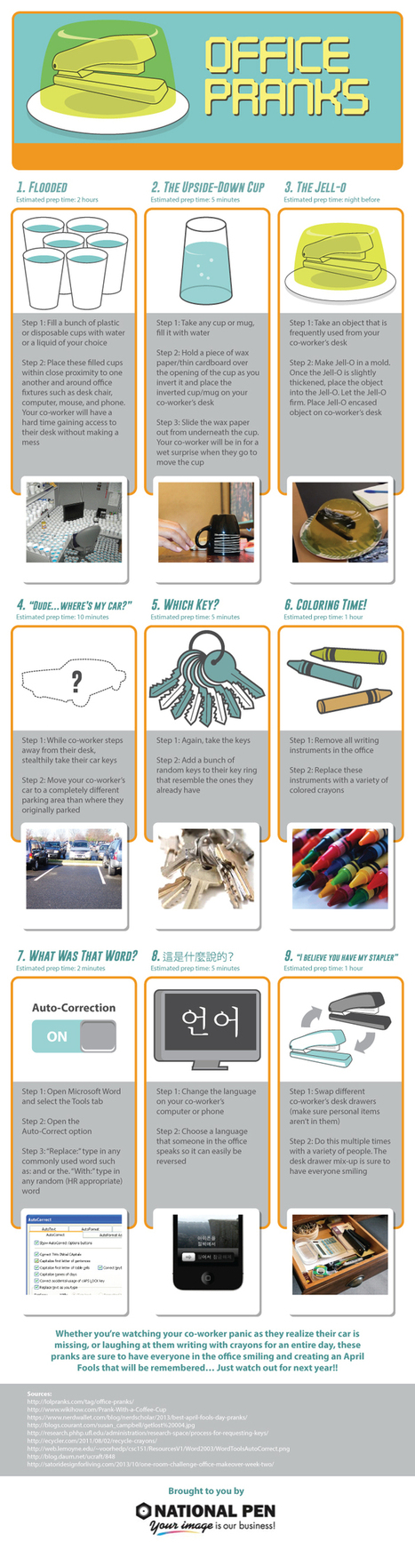 Top Office Pranks for April Fool's Day - Best Infographics | Digital-News on Scoop.it today | Scoop.it