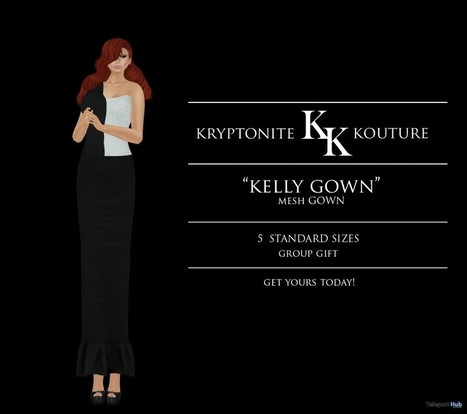 Kelly Gown Opening Group Gift by Kryptonite Kouture | Teleport Hub - Second Life Freebies | Second Life Freebies | Scoop.it