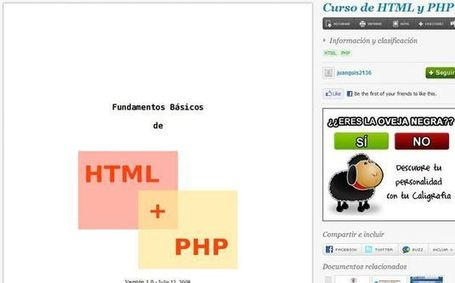 Manual gratuito para iniciarse en la programación HTML y PHP | E-Learning, M-Learning | Scoop.it