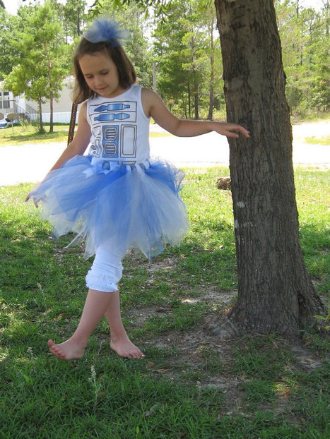 Infant Size-These Are The Droids You Are Looking For-R2D2 Tutu- Boutique Tutu Blue/Silver/White Inspired by Star Wars - Perfect for Fans | GeekGasm | Scoop.it