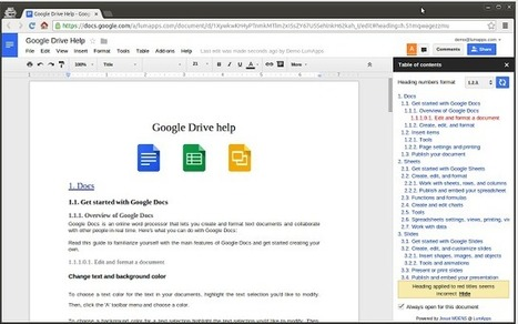 Two Simple Ways to Create A Table of Content in Google Docs | TEFL & Ed Tech | Scoop.it