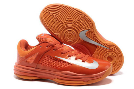 Nike Hyperdunk X 2012 Low Sneaker Silver and Orange Mens | new and popular list | Scoop.it