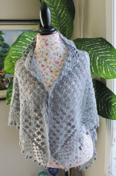 Ready to ship /GORGEOUS Handmade Crochet Smoky Gray SCARF/SHAWL- All Seasons | Fiber Arts | Scoop.it