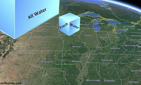 Putting All the World's Water into a Big Cube | green infographics | Scoop.it