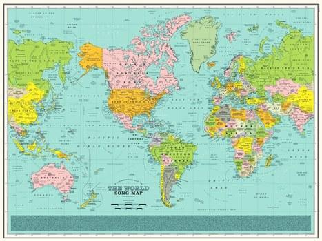 Une carte du monde en chansons   La presse et la classe de fle   Scoop.it