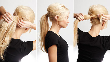 4 easy steps to revamp your ponytail | kapsel trends | Scoop.it
