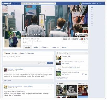 Facebook : vers une Timeline sur une seule colonne? | Social Network & Digital Marketing | Scoop.it