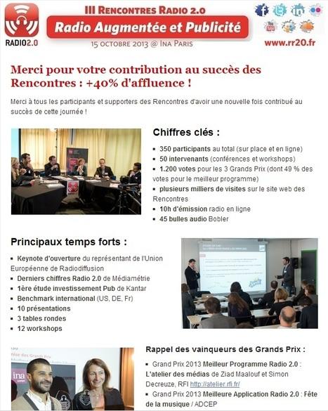 Catch-up Rencontres Radio 2.0 Paris 2013 : Retrouvez tous les liens aux présentations, audio, photo...   Radio 2.0 (En & Fr)   Scoop.it