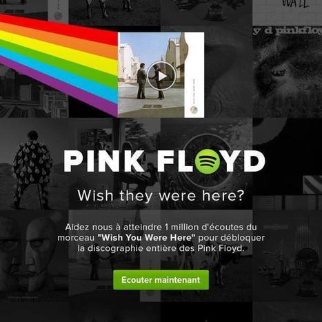 Pour débloquer le catalogue de Pink Floyd, Spotify lance un jeu | Music and music. | Scoop.it