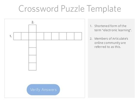 How to Build a Crossword Puzzle for Storyline | digital marketing strategy | Scoop.it