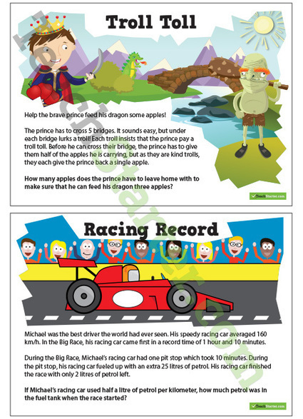 Maths Brain Teasers - 1   Teaching Resources - Teach Starter   www.homeschoolsource.co.uk   Scoop.it