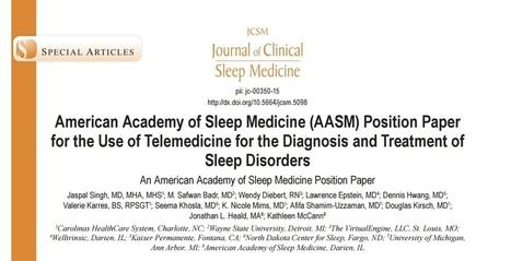 L'académie américaine de médecine du sommeil favorable à l'usage de la télémédecine | DORMIR…le journal de l'insomnie | Scoop.it