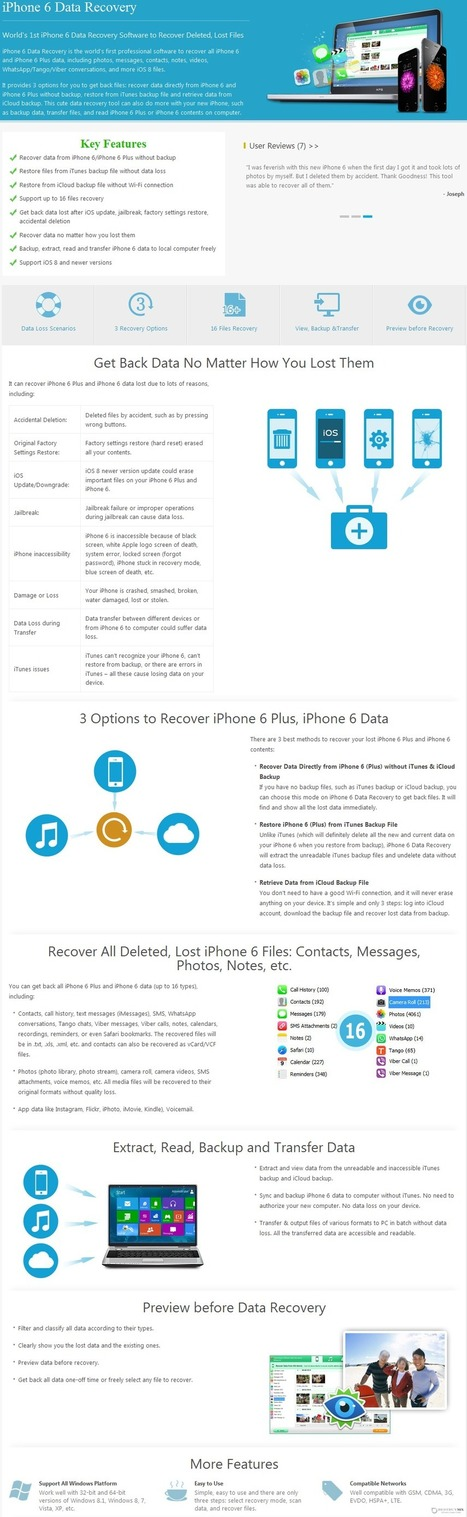 56% Off - Tenorshare iPhone 6 Data Recovery for Windows with Discount Coupon code   Data Recovery Software Coupon Codes   Scoop.it