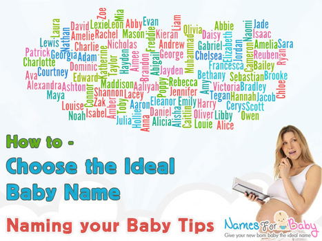Choose the Ideal Baby Name - Naming your Baby Tips - Baby Names | The Name Meaning & Baby World | Scoop.it