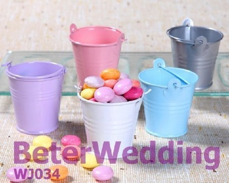 五彩繽紛小鐵桶,歐美婚慶用品 新娘回禮 倍樂婚品WJ034結婚布置 | 純歐式婚禮喜糖盒 倍樂婚品 | Scoop.it
